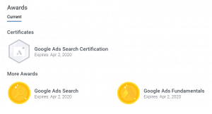 gogole adwords certified